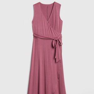 GAP Dresses - Gap Sleeveless Knit Wrap Midi Dress Sm petite